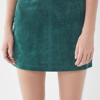 UO Suede Pelmet Mini Skirt | Urban Outfitters
