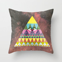Pyramid in Space. Throw Pillow by Nick Nelson   Society6