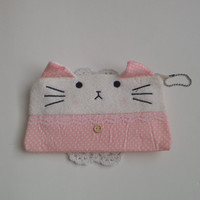 Blushing kitty bag