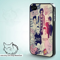One Direction iPhone 5C Case,iPhone 5 Case,iPhone 5S Case,iPhone 4S Case, iPhone 4 Case,iPhone Case - case color black,white,clear