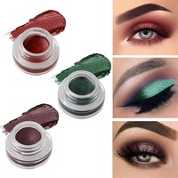 niceface Natural 15 Colors Single Eyeshadow Cream Waterproof Long Lasting Pigments Red Green Color Shimmer Metallic Eye Shadow
