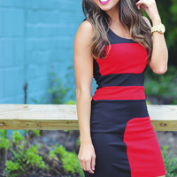 Spice Up Your Life Dress: Red/Black | Hope's