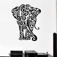 Wall Stickers Indian Elephant Animal Tribal Art Mural Vinyl Decal (ig1977)