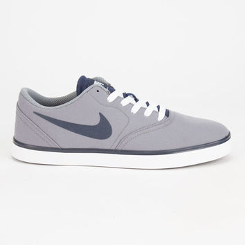 Nike Sb Check Canvas Mens Shoes Cool Grey/White/Dark Obsidian  In Sizes