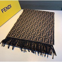 Fendi Fashion versatile F - letter embroidery shawls for women to keep warm neck wrap