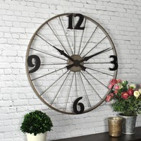 FirsTime Bicycle Wheel Wall Clock-50077 - The Home Depot