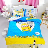 Cartoon Bed Sets - Bed Comforters - Linen include Duvet, Cover, Flat Sheet, and Pillow Cases