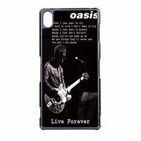 Oasis Live Forever Noel Gallagher Lyrics Sony Xperia Z3 Case