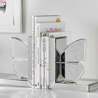 Butterfly Mirrored Bookends