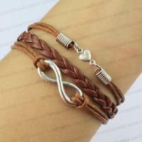 Infinity and heart charm bracelet, best gift of friendship