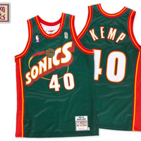 Mitchell & Ness Shawn Kemp 1995-96 Authentic Jersey Seattle SuperSonics In Green