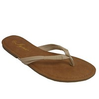 INSANITY CLOSEOUT! Every Girls Must! Classic Beige Flip Flop Sandals