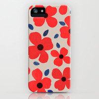 Dogwood_Red iPhone Case by Garima Dhawan   Society6
