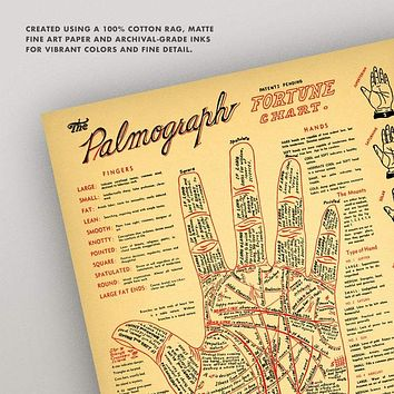The 192's Vintage Look Palmistry Chart Accurate
