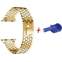 Link bracelet strap for apple watch band 42mm/38mm/44mm/40mm iwatch series metal watchband