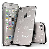 Tan Doodles with Lightning - 4-Piece Skin Kit for the iPhone 7 or 7 Plus