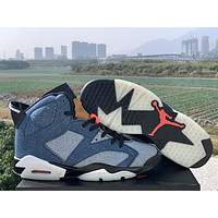 "AIR JORDAN 6 ""WASHED DENIM"" high-top sneakers basketball shoes"