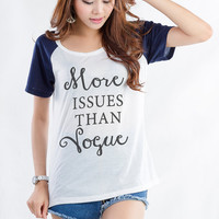 More issues than vogue Shirts for Women Teens Girl Teenager Shirt Trendy Fashion Mean Girls Quote Shirt Tumblr Hipster Cute Blogger Twitter