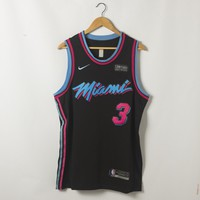 Men's Miami Heat Dwyane Wade Nike Black Vice Nights Swingman Jersey - Best Deal Online