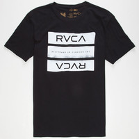 Rvca New Bars Mens T-Shirt Black  In Sizes