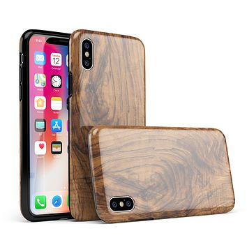 Raw Wood Planks V11 - iPhone X Swappable Hybrid Case