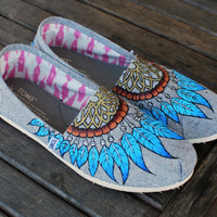 Dream Catcher Moccasin Vegan TOMS by BStreetShoes on Etsy
