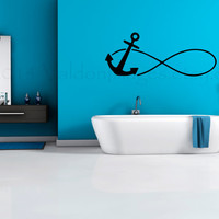 Anchor infinity wall decal, wall sticker, anchor decal, wall graphic, decal, living room decal, bedroom decal, vinyl decal, wall art