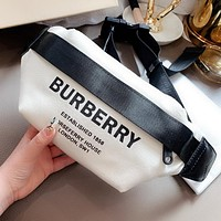 BURBERRY Fashion Men Women Canvas Waist Bag Chest Bag Shoulder Bag Crossbody Satchel