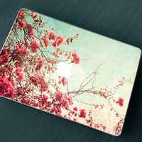 Stickers Macbook Decal Skin Macbook Air Skin Pro Skins Retina Cover Vintage  Blossom Cherry Tree Branch Christmas Gift New Year ( rm14)