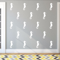 Seahorse Style A Set of 5 Inch Vinyl Wall Decals 22564