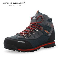 Breathable man Hiking boots Mens Outdoor waterproof Hiking boots Anti-skid Leather Climbing Boots hiking Shoes 40-45 8037