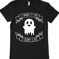 2 Spoopy 2 live-Female Black T-Shirt