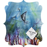 Ginette Fine Art Birds of the Ocean Quatrefoil Magnet Board