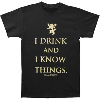 Game Of Thrones Men's  Tyrion Quote Slim Fit T-shirt Black