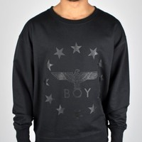 BOY London Globe Star Sweatshirt - Black/Black