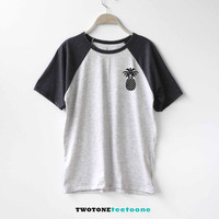 Pineapple Shirt Baseball Raglan Shirt Tee TShirt