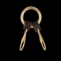 UNIONMADE - il bisonte - 2 Piece Key Ring in Dark Brown