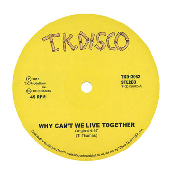 """Timmy Thomas: Why Can't We Live Together (LNTG Rework) Vinyl 12"""""""