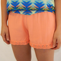 The Lacey Shorts {Coral}