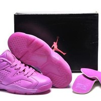 Hot Nike Air Jordan 6 Low Women Shoes All Purple