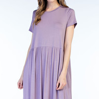 Babydoll Knit Pocket Dress