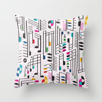 MY SONG Throw Pillow by Rachel Lee