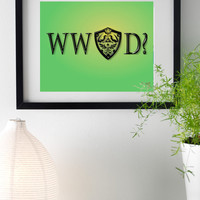 What Would Link Do? // Original Typography 8x10 Print for Home, Dorm, or Office Decor and Gifts