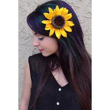 Sunflower Hair Clip #F1005