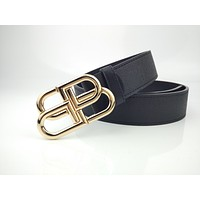 Balenciaga fashion new vintage leather belt with lock