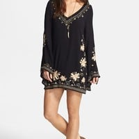 Free People Embroidered Gauze Dress