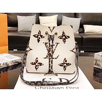 LV hot seller of fashionable ladies' printed color bucket shoulder bag White