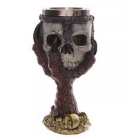 Skull Gothic Goblet Gothic Spine Chalice Pagan Halloween Ornament Party Drinking Glass