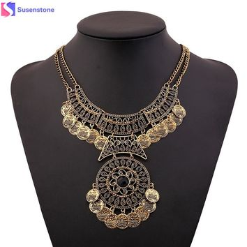 Bohemian Festival Double Chain  Necklace