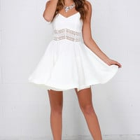 It's Electric Ivory Lace Dress